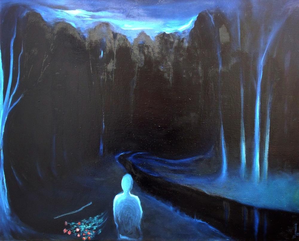 """""""Papaver 15"""", óleo/lienzo, 100 x 81 cm"""