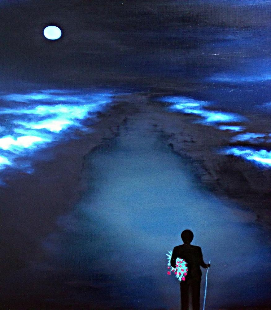 """Papaver 6.Noite celestial"", óleo/lienzo, 90 x 90 cm"
